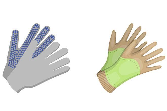 Handschuhe zur Anziehhilfe bei Stützstrümpfen